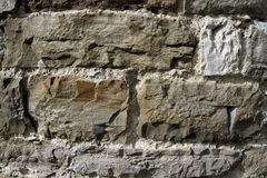 Ancient walls of hewn stone Stock Photos