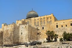 Ancient walls of Jerusalem Stock Photography