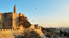 The ancient walls of Jerusalem Royalty Free Stock Photography