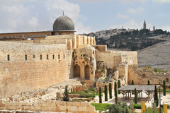 The ancient walls of Jerusalem Royalty Free Stock Photo