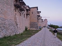 Ancient walls of a monastery in holy Mount Athos Greece Royalty Free Stock Photos