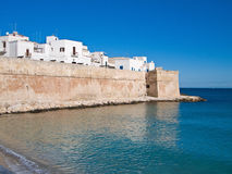 Ancient walls of Monopoli. Apulia. Royalty Free Stock Images