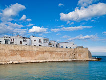 Ancient walls of Monopoli. Apulia. Stock Images