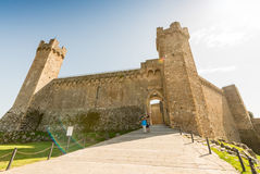 Ancient walls of Montalcino, Tuscany Royalty Free Stock Image
