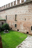 Within the ancient walls of the old castle in Verona Royalty Free Stock Images