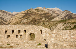Ancient walls in the old town of Bar Royalty Free Stock Photo