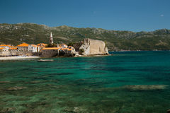 Ancient walls old town Budva on the Adriatic Sea, Mediterranean Royalty Free Stock Image