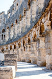 Ancient Walls of Roman amphitheater Colosseum in Pula Royalty Free Stock Images