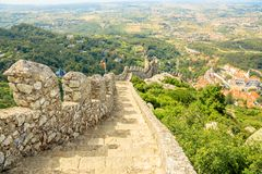 Sintra Moorish Castle wall Stock Photos