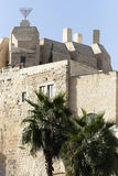 Ancient Walls Surrounding Old City Stock Photography