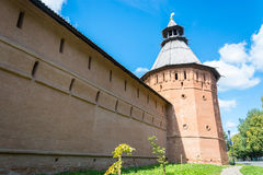 The ancient walls of the Suzdal Kremlin. Stock Images