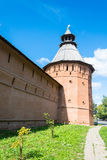 The ancient walls of the Suzdal Kremlin. Royalty Free Stock Photography