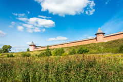 The ancient walls of the Suzdal Kremlin. Royalty Free Stock Photo