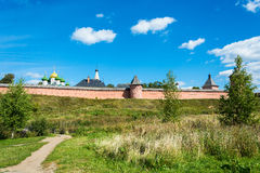 The ancient walls of the Suzdal Kremlin. Royalty Free Stock Images
