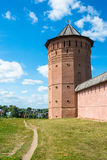 The ancient walls of the Suzdal Kremlin on a Sunny summer day, A Royalty Free Stock Image