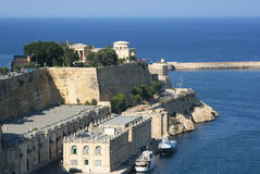 The ancient walls of the town-fortress Valletta, capital of Malta. Stock Images