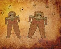 Ancient Wandjina Pictograph stock image