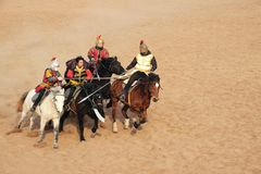 Ancient war performance. The ancient war performance is held in Minle Manor in Yuci, Shanxi, China Stock Photography