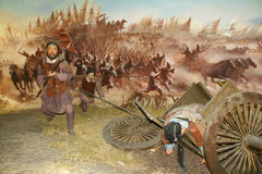 Ancient war scene Royalty Free Stock Image