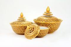Ancient ware. Of Thailand call Ben-ja-rong. Rare artifact royalty free stock images
