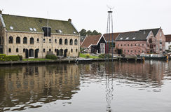 Ancient warehouses in Dokkum, the Netherlands Royalty Free Stock Photography