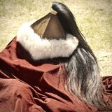 Ancient Warrior Fur Hat Royalty Free Stock Photo