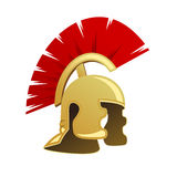 Ancient Warrior Helmet. Isolated on white background Royalty Free Stock Photography
