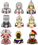 Ancient warrior icon collection set 2 Royalty Free Stock Image