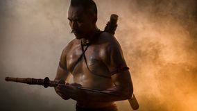 Ancient warrior man of soldier of Bang Rachan District Thailand Stock Image