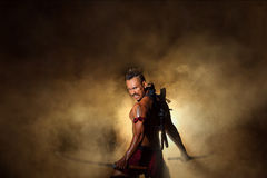Ancient warrior man of soldier of Bang Rachan District Thailand Royalty Free Stock Photography