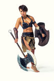Ancient warrior woman. Stock Photography