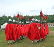 Ancient warriors. As in Kievskaya Rus Royalty Free Stock Photography