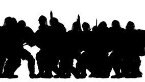 Ancient Warriors Battle (Silhouettes) stock footage