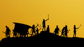 The ancient warriors of Thailand Royalty Free Stock Photography