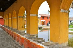 Ancient washbasins. Antigua, Guatemala Royalty Free Stock Photo