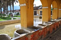 Ancient washbasins. Antigua, Guatemala Stock Photos