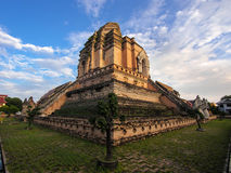 Ancient Wat Chedi Luang Stupa in Chiang Mai, Thailand. Stock Images