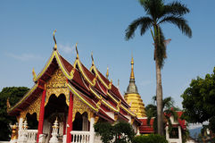Ancient wat in Chiang Mai, Thailand Royalty Free Stock Photography