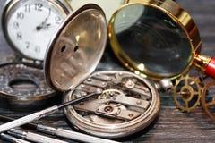 Ancient Watch Repair Stock Photos