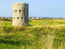 Ancient watchtower on the Guernsey island Royalty Free Stock Photos