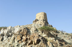 Ancient watchtower in the highlands of Ras al Khaimah, United Arab Emirates Stock Image