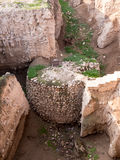 Ancient Watchtower at Jericho royalty free stock photo