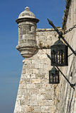 Ancient watchtower with lanterns Stock Photography