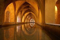 Ancient water cistern in Seville, Spain Royalty Free Stock Images
