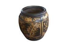 Ancient water jar Stock Photos