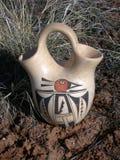 Ancient Water Jug. Native American lemonade pitcher royalty free stock photo