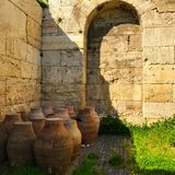 The Ancient Water Jugs. Acropolis Royalty Free Stock Photo