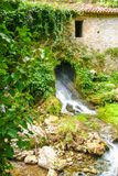 Ancient mill of Morigerati. The ancient water mill in the natural reserve of Morigerati, by Bussento river in Cilento National Park, Salerno province, Camania Stock Photos