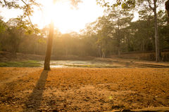 Ancient Water Pool in Angkor Thom, Cambodia Royalty Free Stock Photography