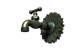 Ancient water tap Royalty Free Stock Photography